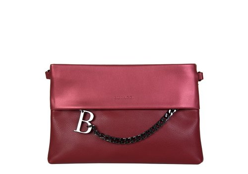 Clutch bag Abelia (burgundy red)