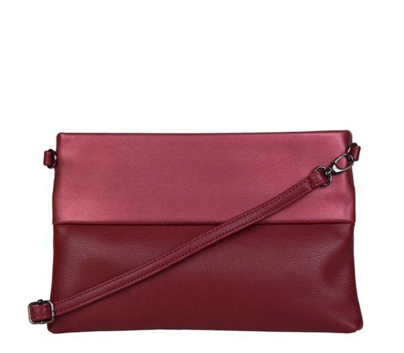 Clutch bag Abelia (burgundy red)