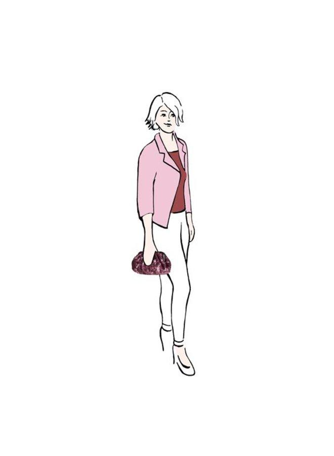 Clutch Macy (oud roze)
