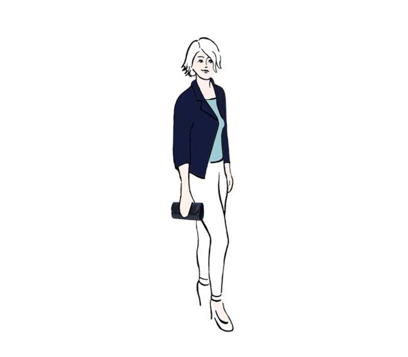 Clutch Phoebe (donkerblauw)