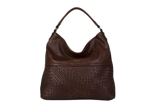 Hobo Shoulder bag Bryon (dark brown)