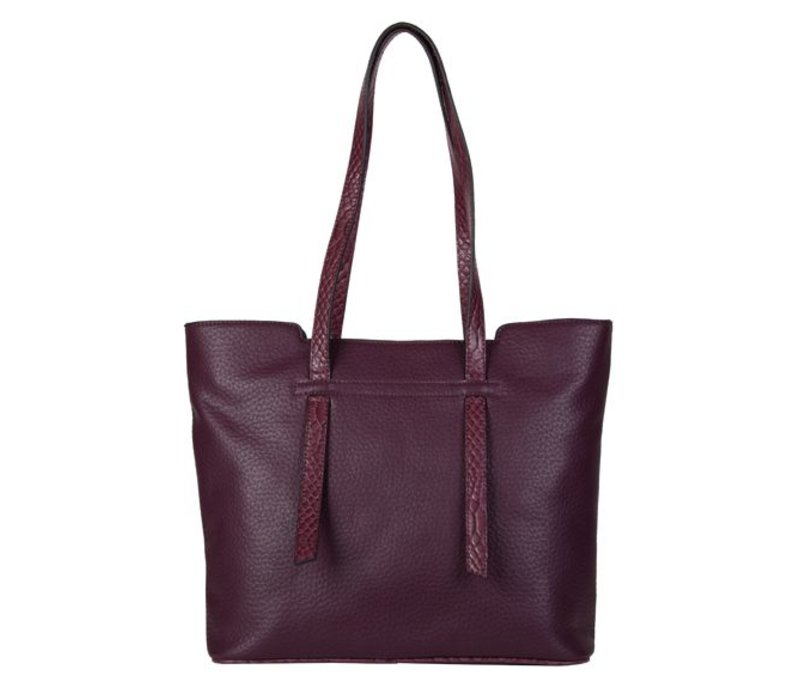 Shopping bag Senna (burgundy red)