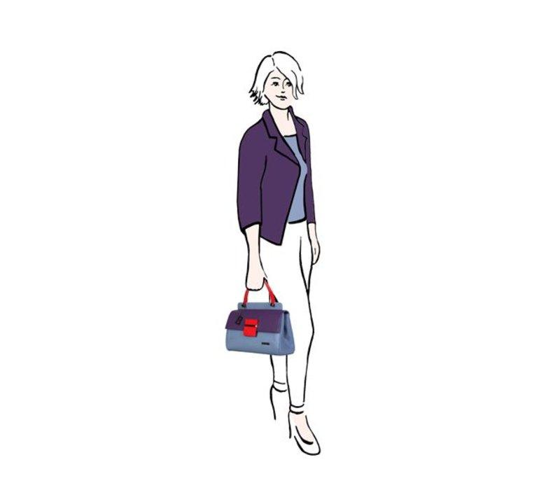Handbag Abby (denim blue)