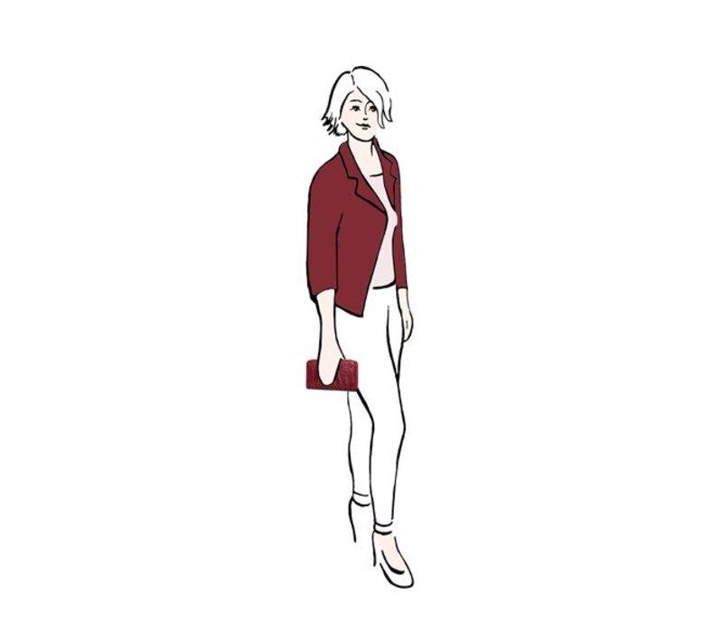 Portemonnee Cynthia (bordeaux rood)