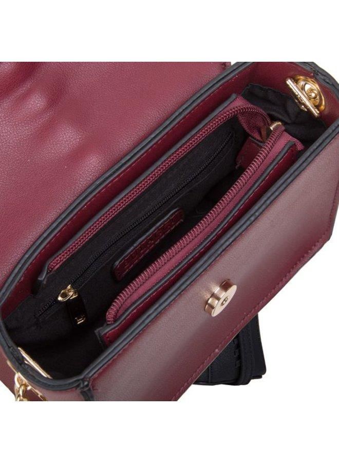 Crossbody bag Calla (burgundy red)