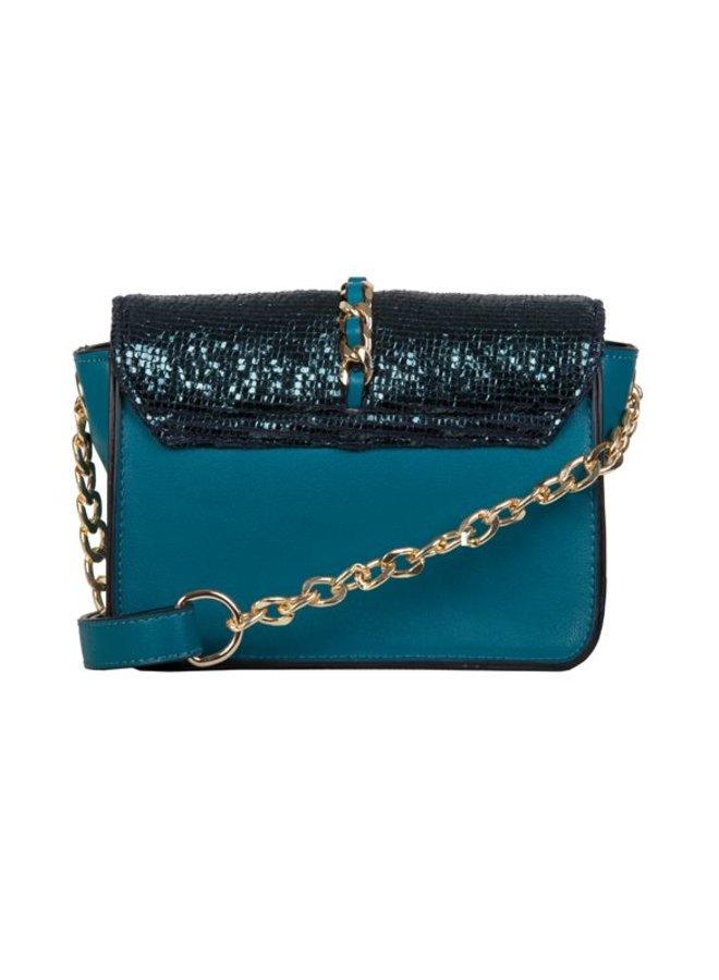 Crossbody bag Calla (emerald green)