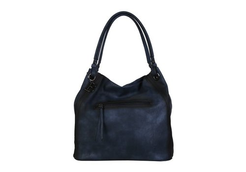 Shopping bag Lotus (dark blue )