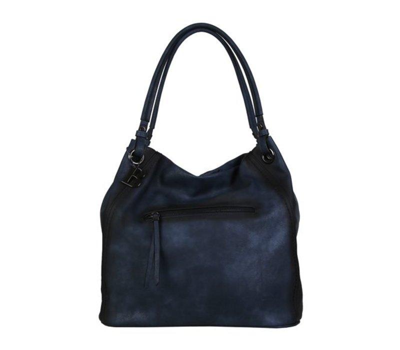 Shopping bag Lotus (dark blue )