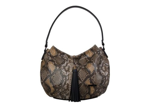 Hobo Shoulder bag Snake (khaki)