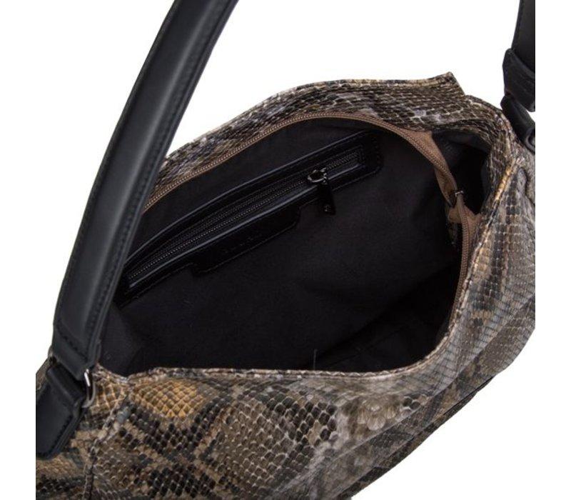 Hobo Shoulder bag Snake (khaki)
