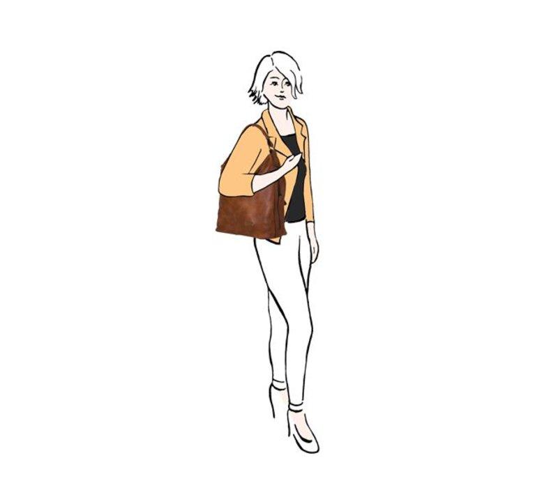 Hobo schoudertas Erica (okergeel)