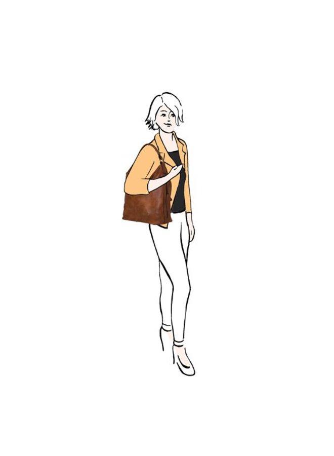 Hobo schoudertas Erica (donkerblauw)