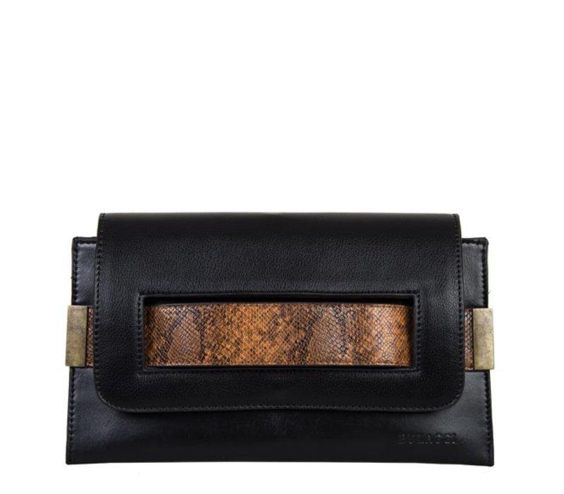 Clutch bag Fleur (black)