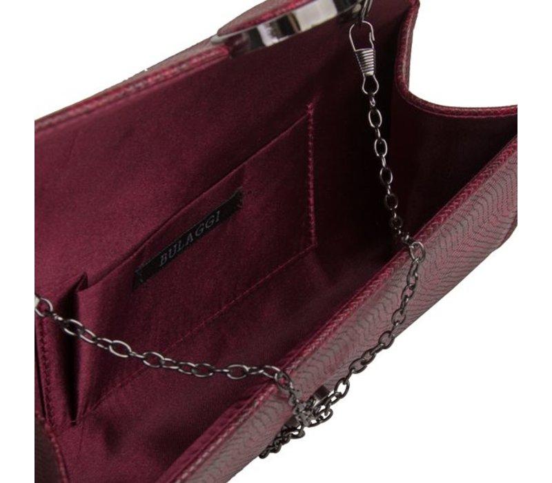 Clutch bag Phoebe (burgundy red)