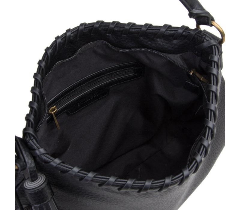 Hobo schoudertas Freesia (zwart)