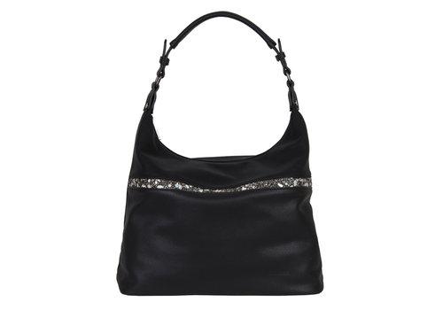 Hobo Shoulder bag Zinnia (black)