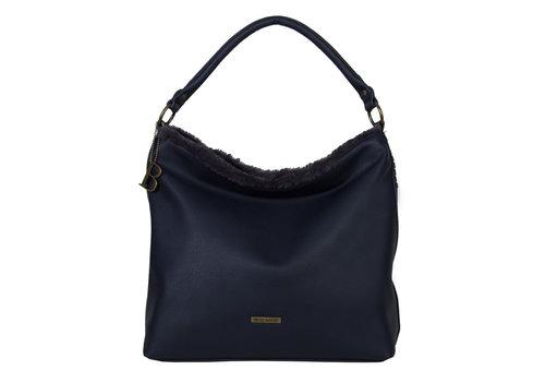 Hobo Shoulder bag Jacinta (dark blue )