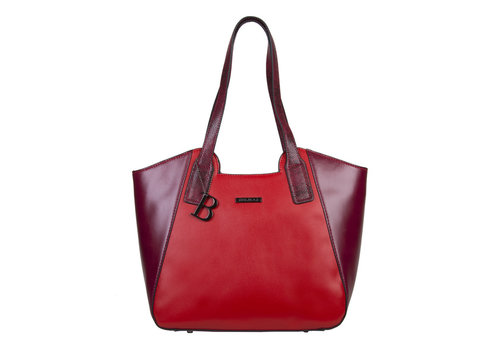 Shopping bag Fleur (red)