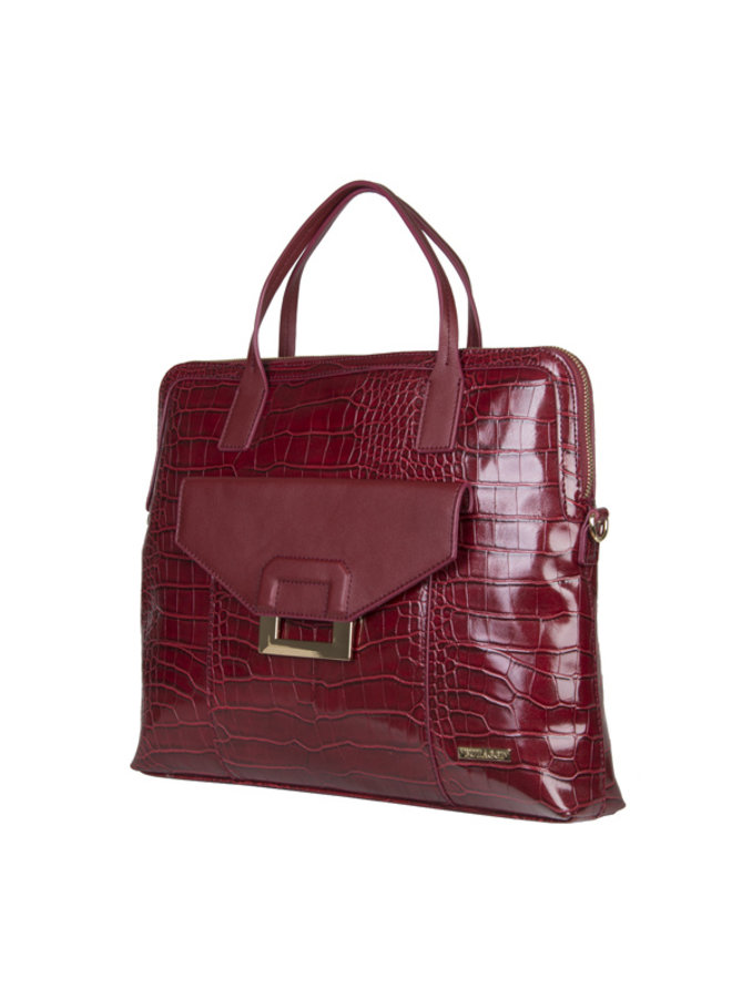 Laptoptas Cynthia (bordeaux rood)