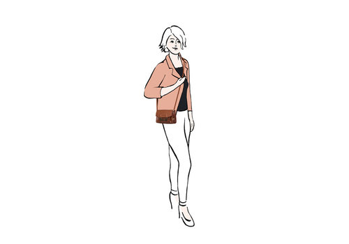 Crossbody tas / heuptasje Cynthia (donkerblauw)