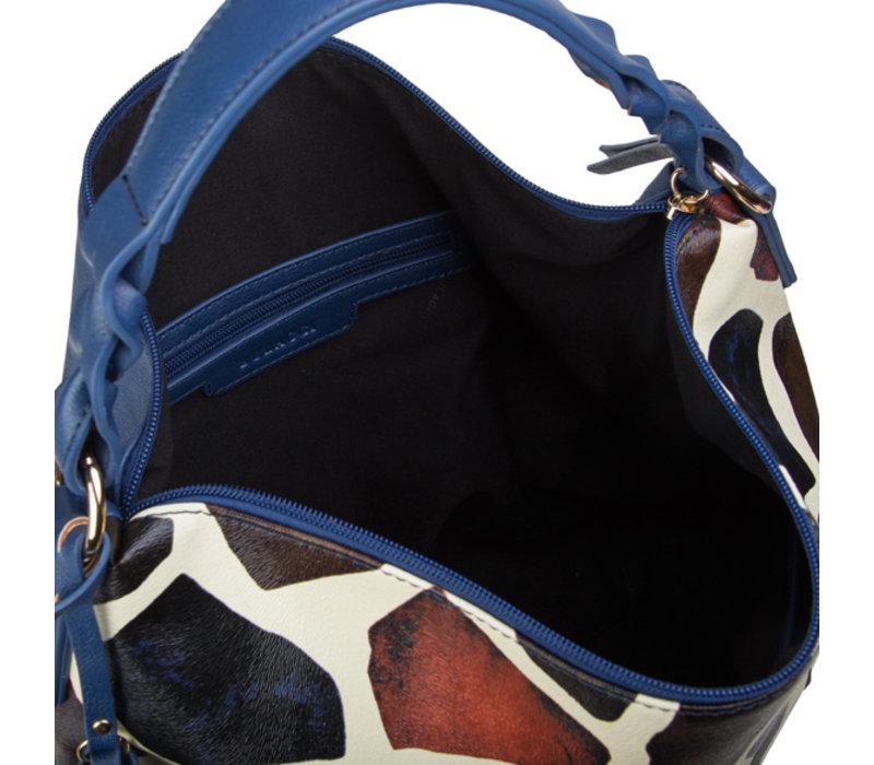 Hobo schoudertas Giraffe (multikleur)
