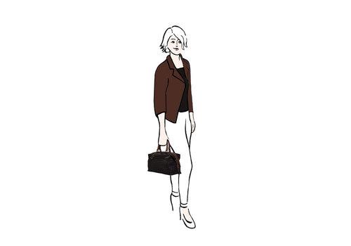 Handbag Bryon (dark brown)