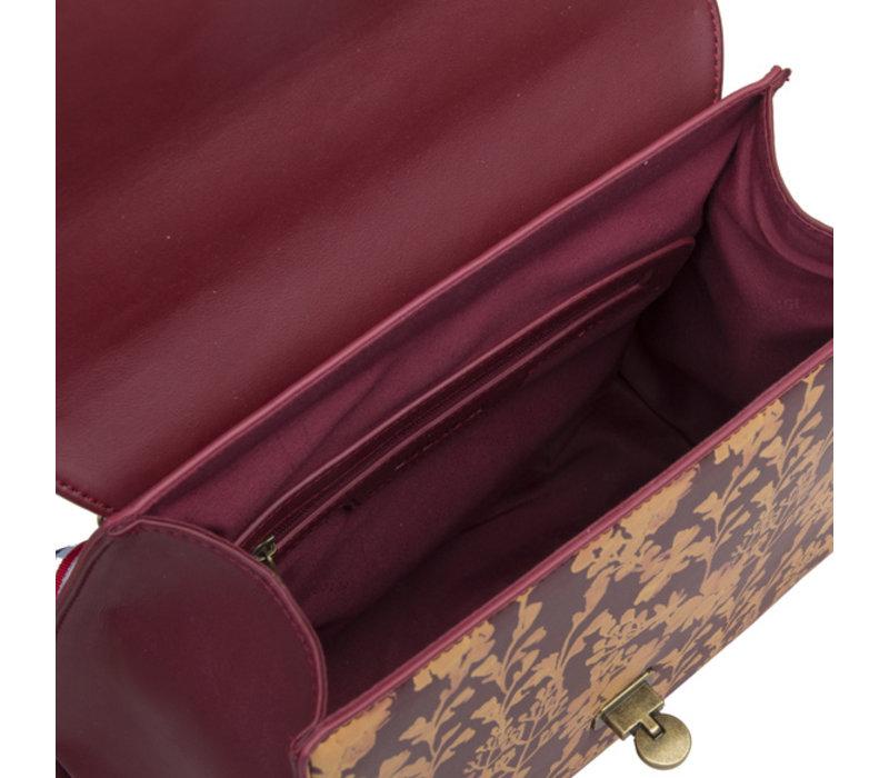 Handbag Marcella (burgundy)