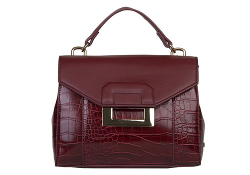 Handbag Cynthia (burgundy red)