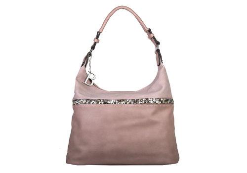 Hobo schoudertas Zinnia (oud roze)