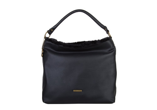 Hobo Shoulder bag Jacinta (black)