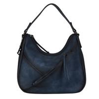 Hobo Shoulder bag Lotus (dark blue )