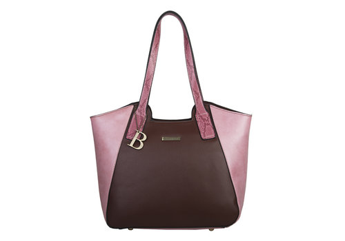 Shopping bag Fleur (brown/pink)
