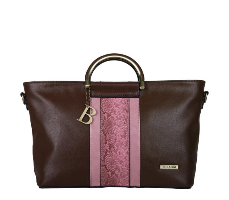 Handtas Fleur (bruin/roze)