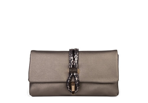 Clutch bag Bibis (pewter)