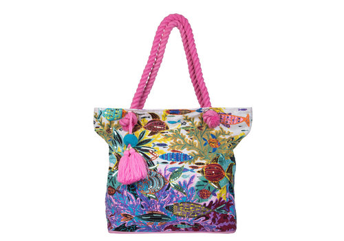 Beach bag Ariel (fuchsia)