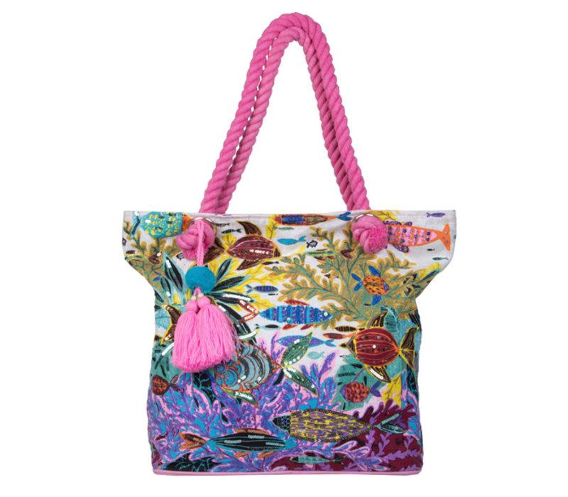 Shopping bag Ariel (fuchsia)