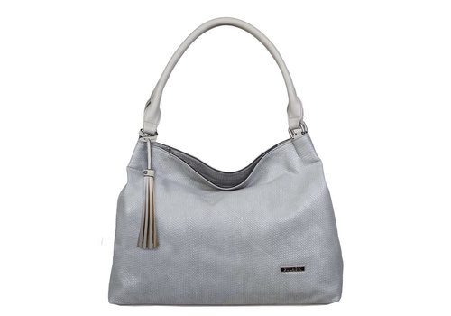 Hobo shoulder bag Mila (light grey)