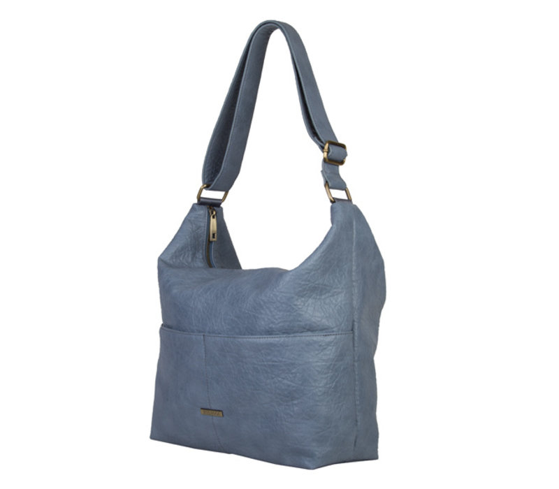 Hobo shoulder bag Puff (pastel blue)