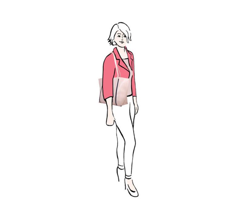 Shopper Zsazsa (oud roze)