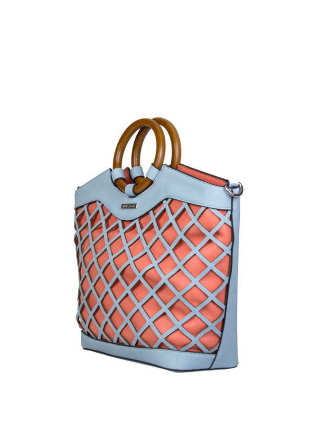 Shopping bag Frannie (pastel blue)