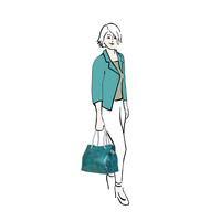 Shopping bag Jade (turquoise)