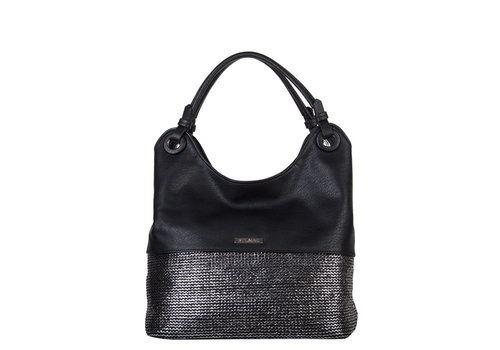 Hobo shoulder bag Wave (black)