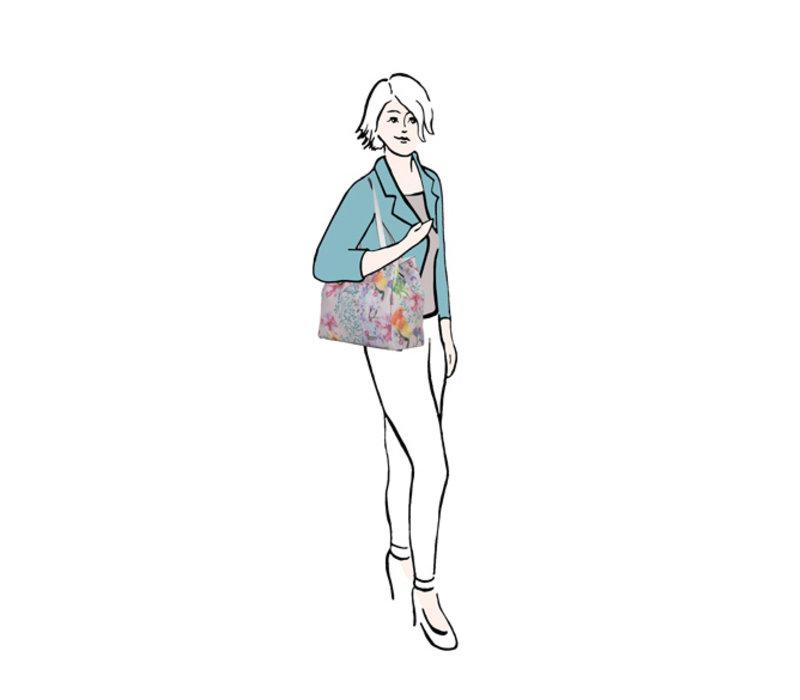 Shopping bag Bird (multi)