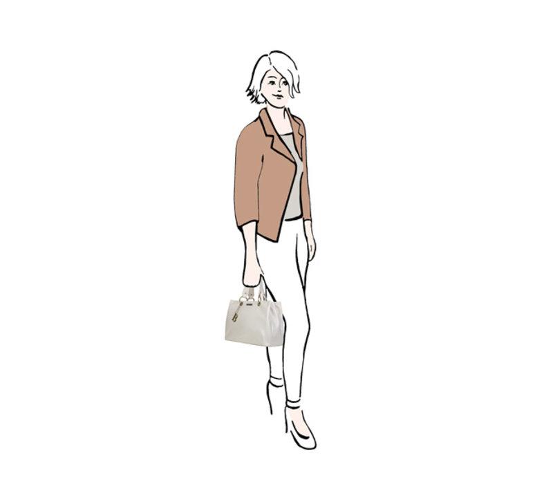 Shopper Lily (perzikkleur)
