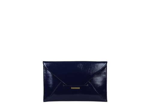 Envelop clutch bag Isabella (dark blue )