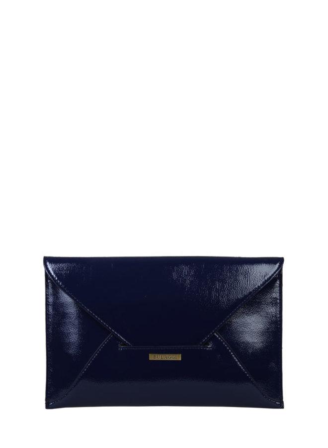 Envelop clutch Isabella (donkerblauw)
