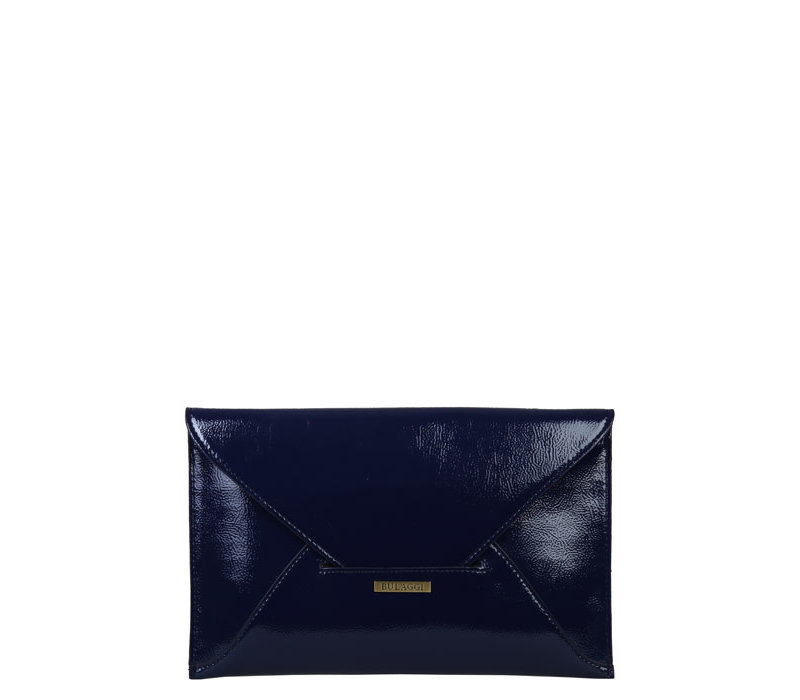 Envelop clutch bag Isabella (dark blue )