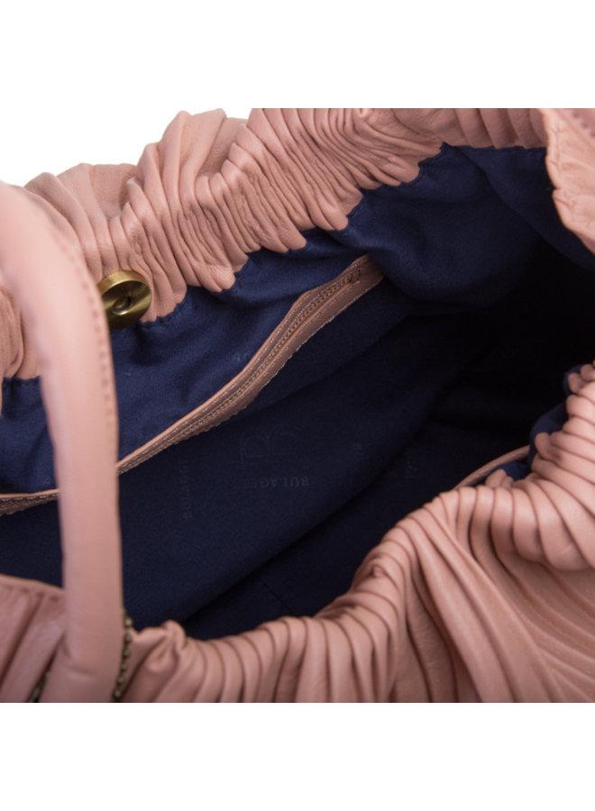 Handtas Pleaty (oud roze)