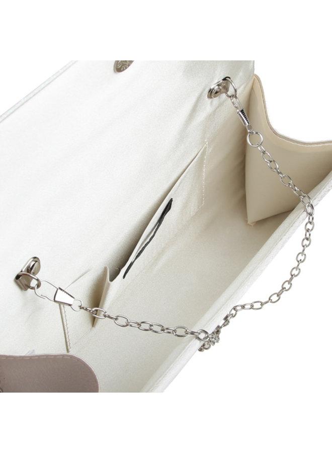 Envelop clutch bag Evelyn (bone)