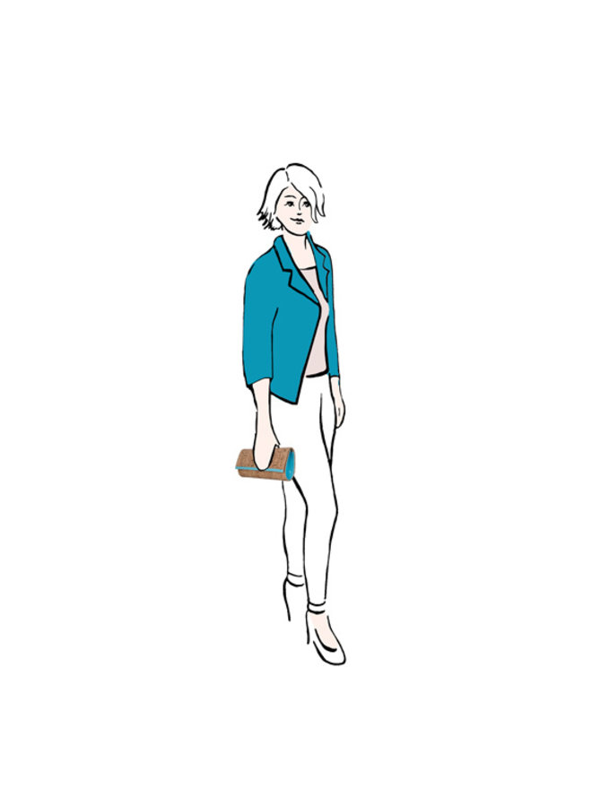 Clutch bag Velma (turquoise)